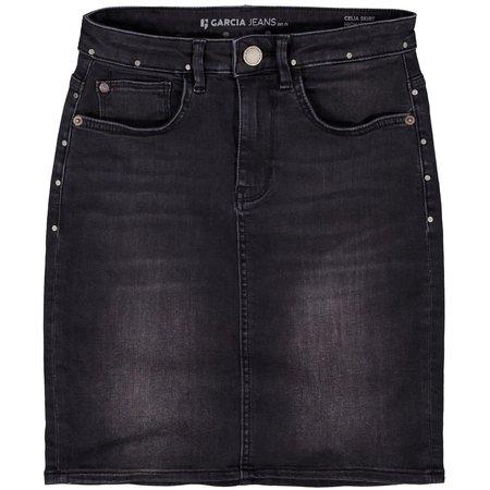Dark Grey Denim Skirt