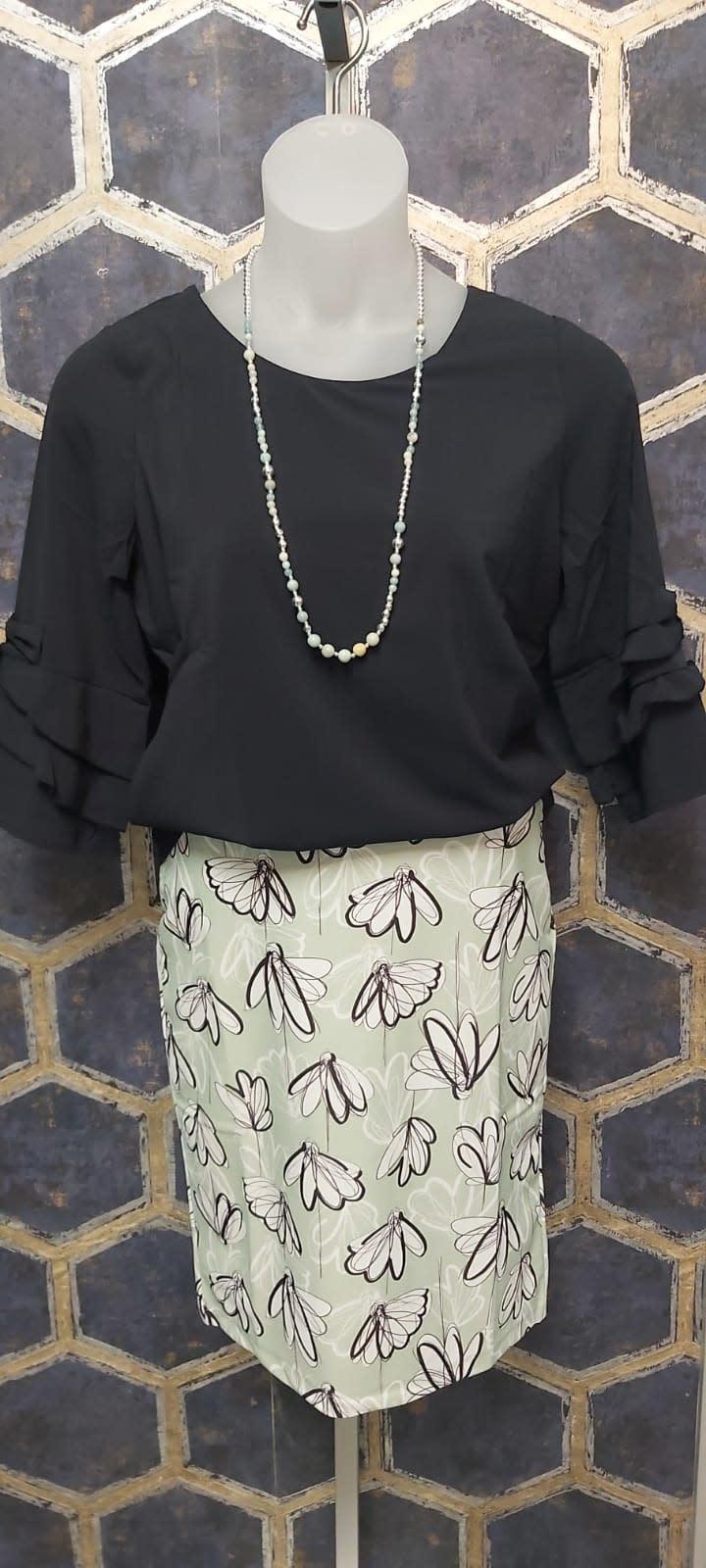 Mint Flower Skirt