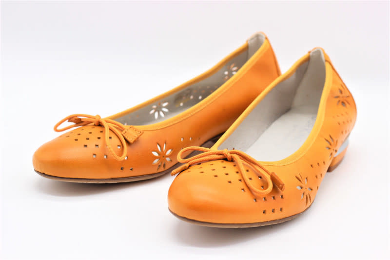 Perforated Flats with Metal Heel Detail
