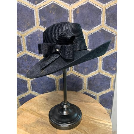 Navy Hat with Bow and Loop