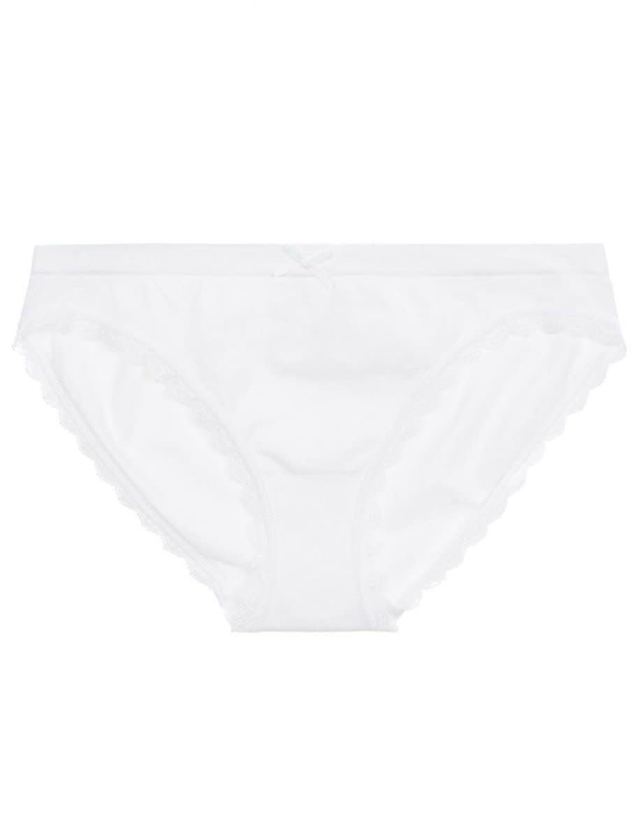 Junior Bikini Brief - White