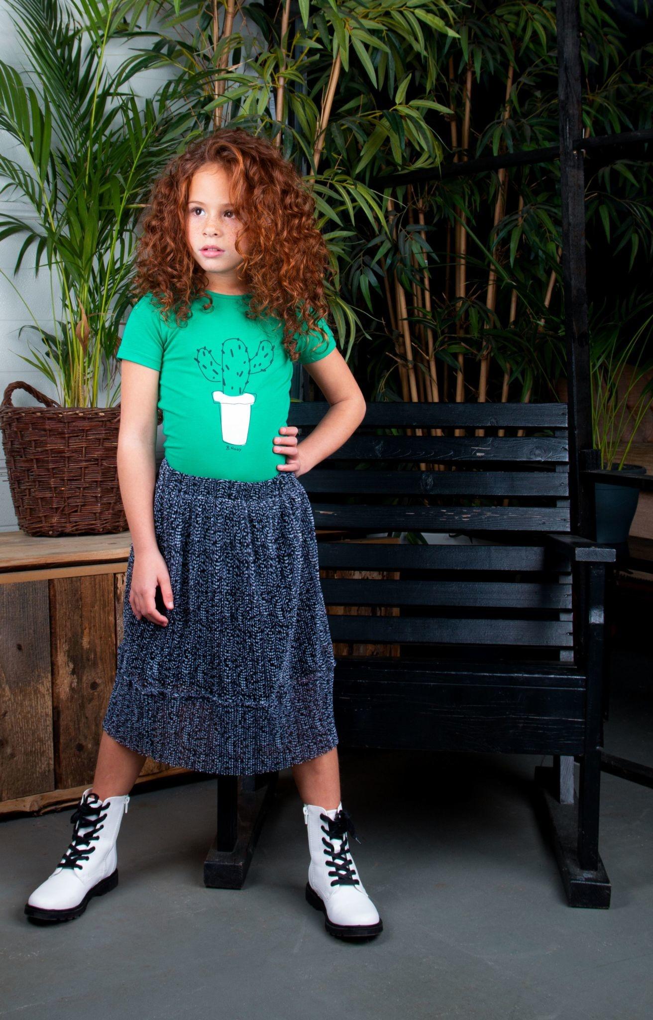 Mesh Plisse Skirt
