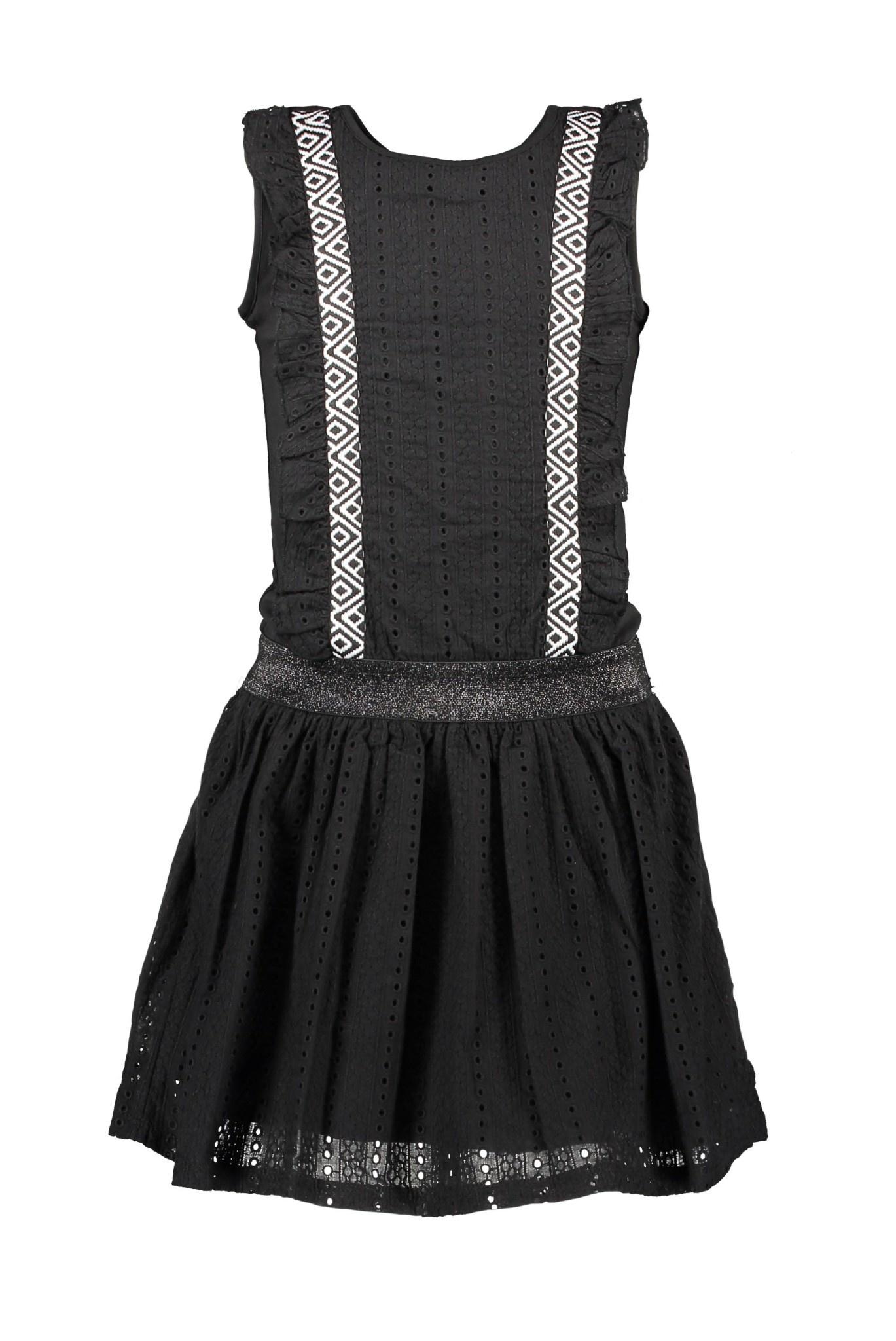 Dress with Lace Ruffle