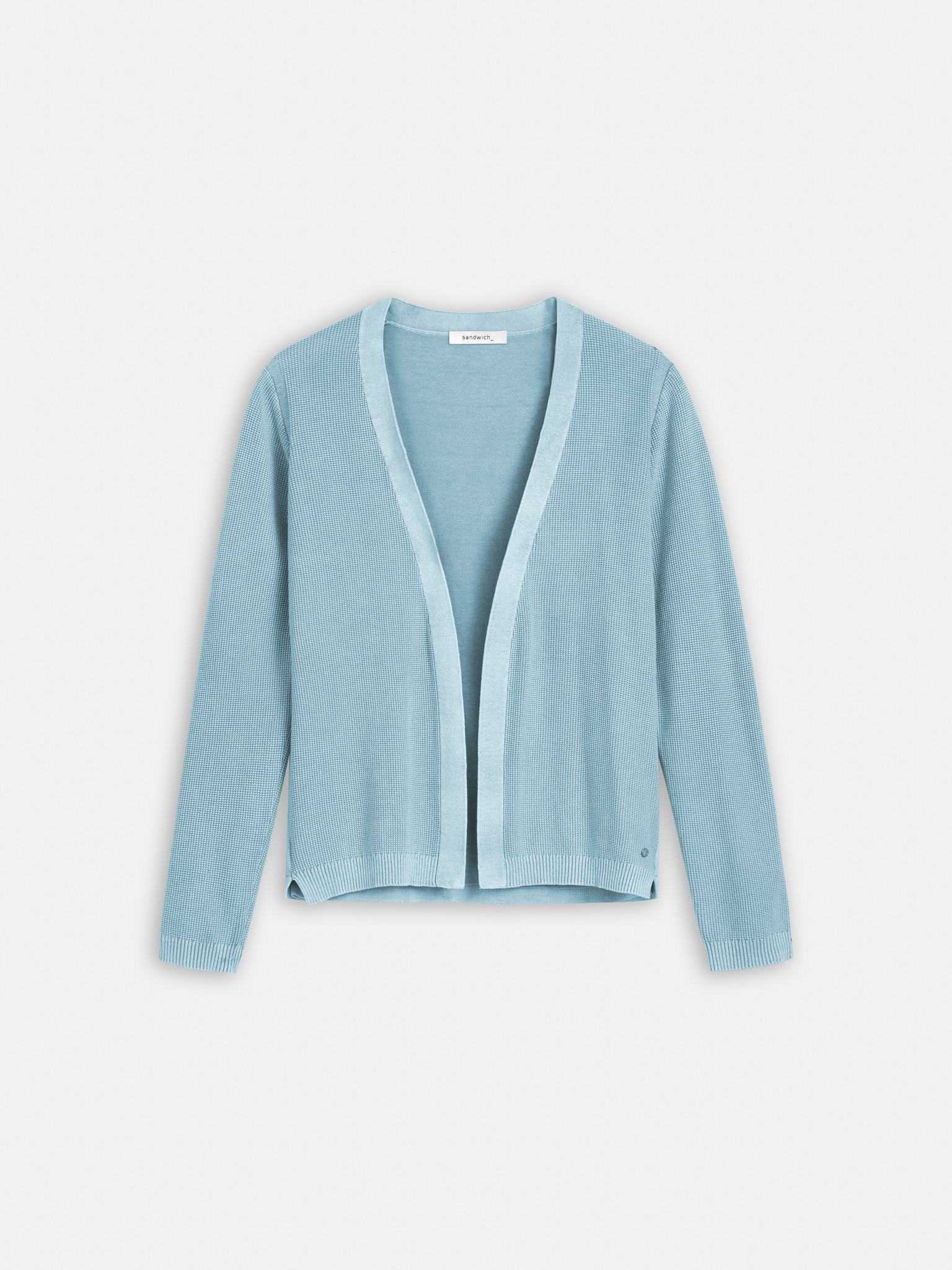 Textured Knit Cardigan - Blue Shadow