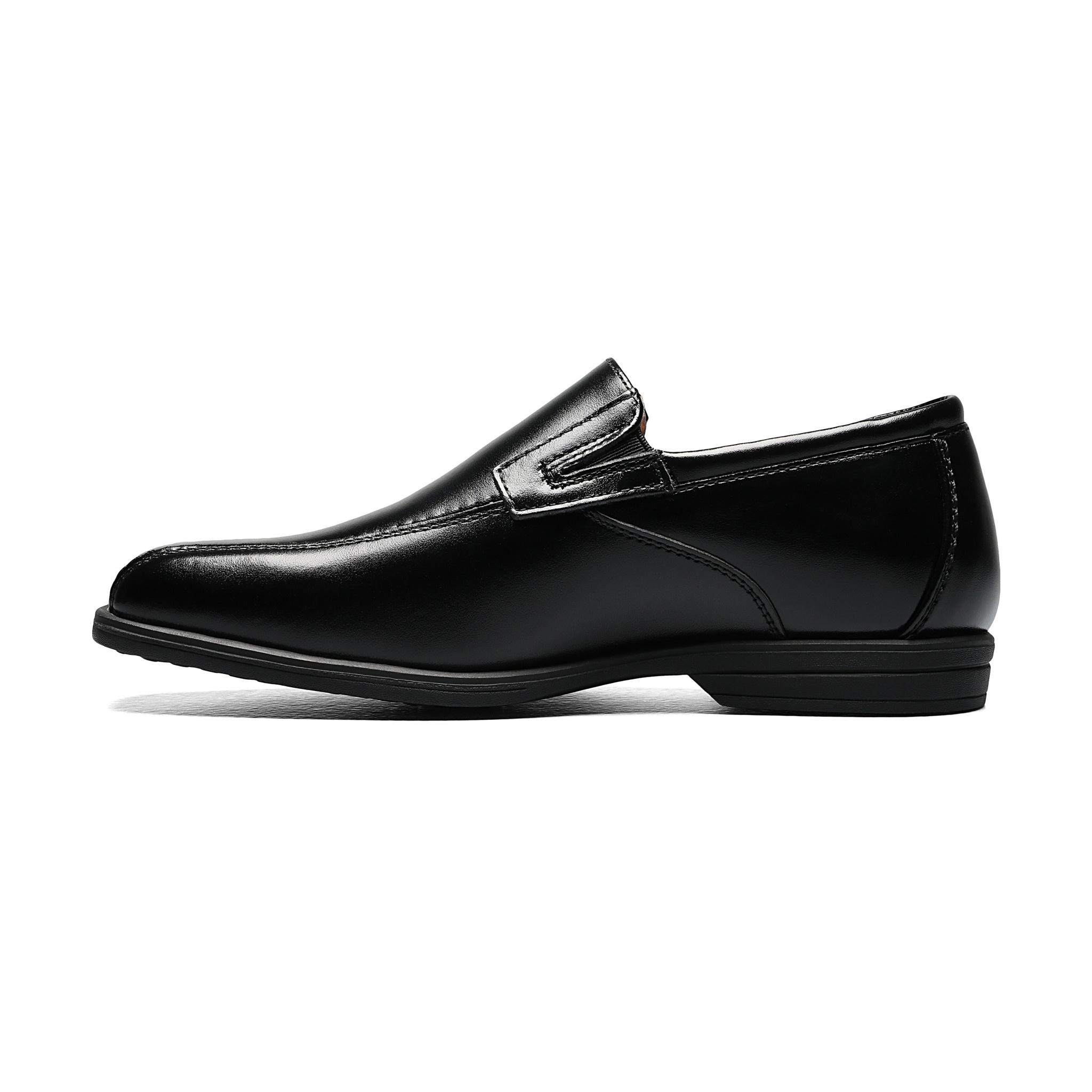 Boys Black Slip-On Dress Shoe