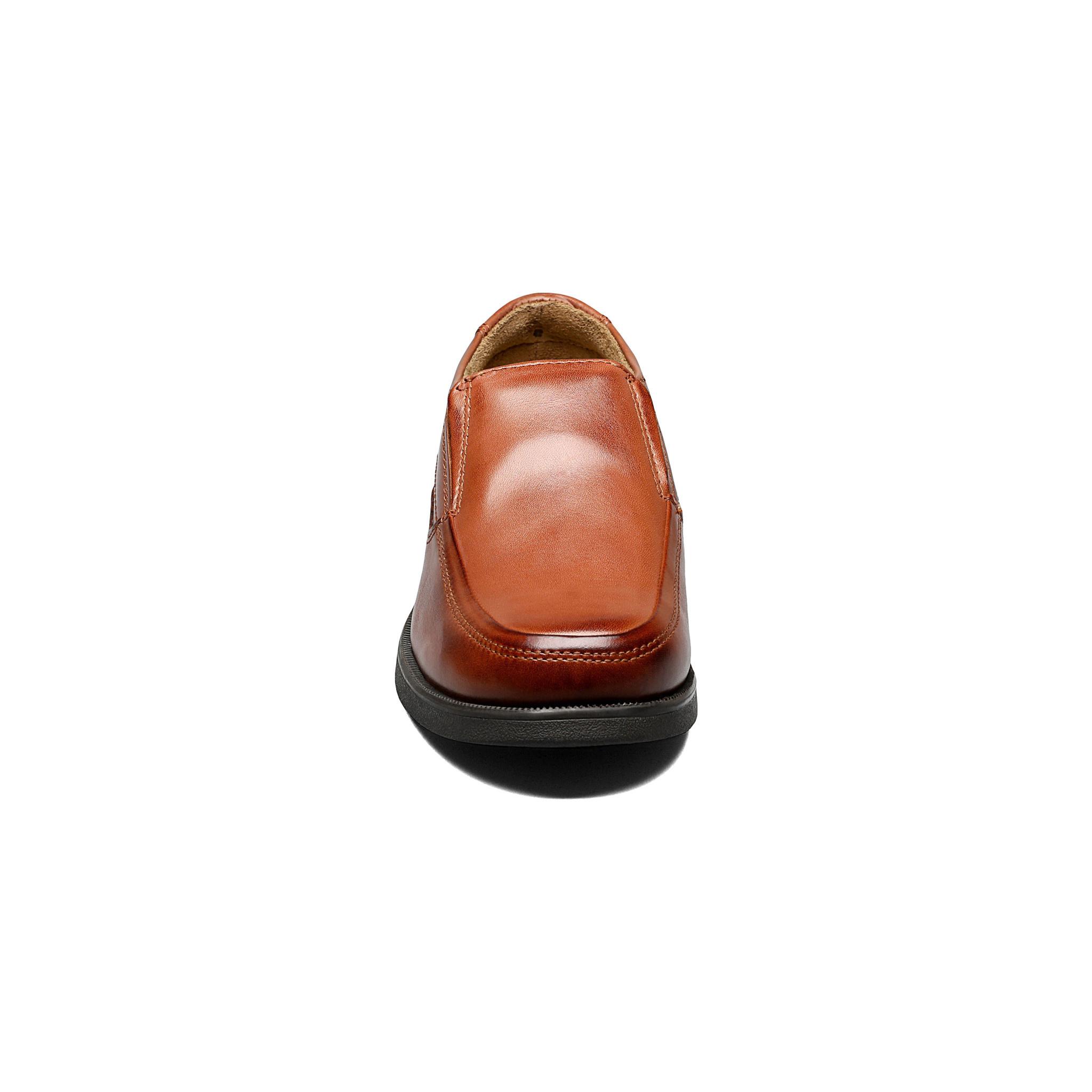 Boys Cognac Slip-On Dress Shoe with Wider Toe