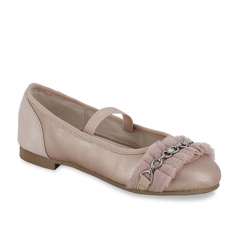 Girls Pink Ballerina Flats