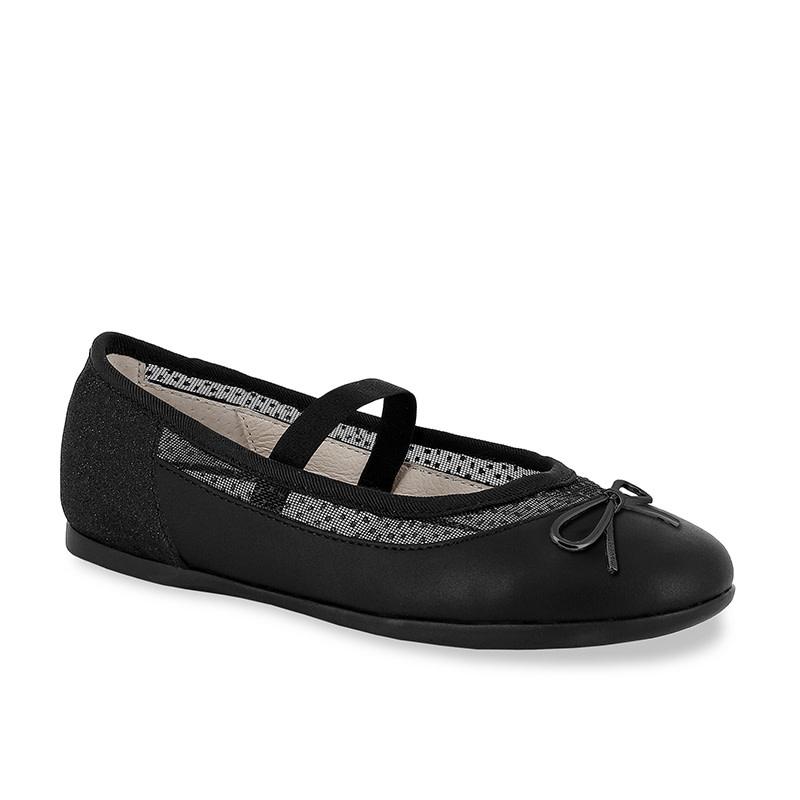 Girls Black Ballerina Flats