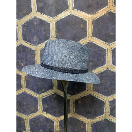 Blue Melange Western Style Hat