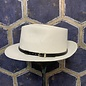 Fedora Style Hat - White with Black Belt