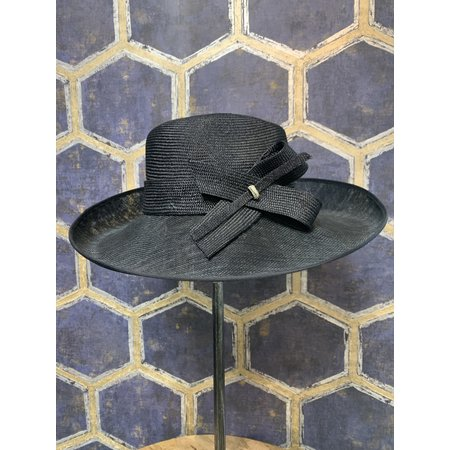 Large Navy Hat with Bow