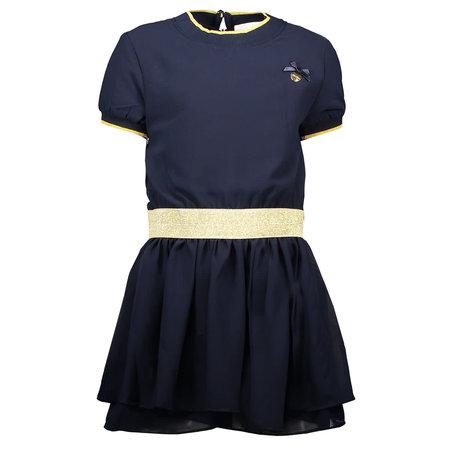 Navy Chiffon Dress