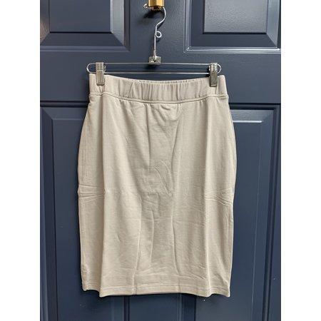 Basic Jersey Skirt - 54cm - Sand