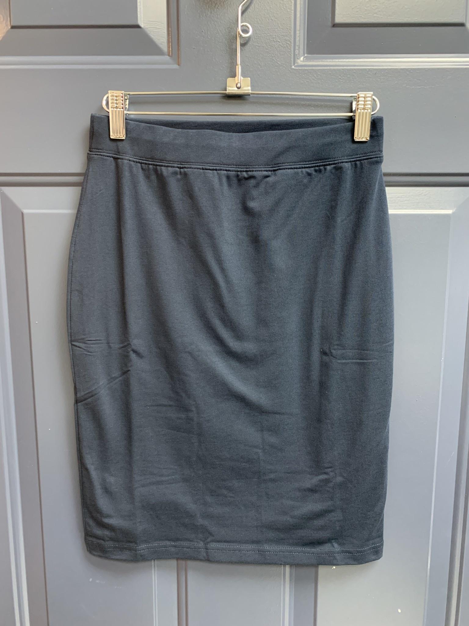 Basic Jersey Skirt - 54cm - Navy