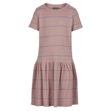 Rib Striped Dress - Adobe Rose