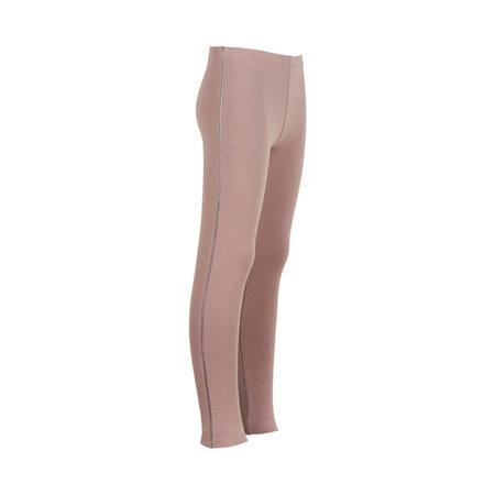 Legging with Lurex Piping - Adobe Rose