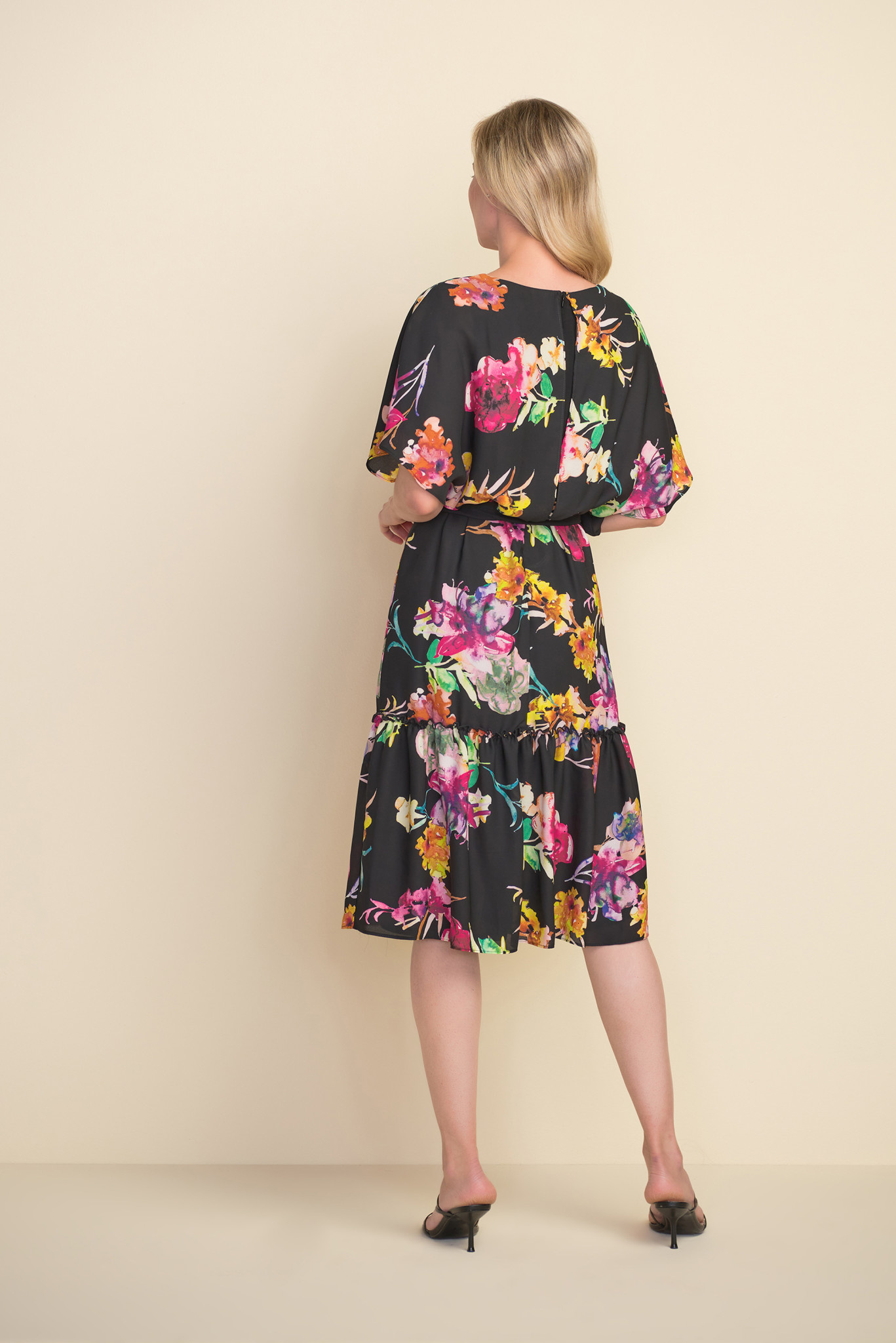 Floral Chiffon Tiered Dress