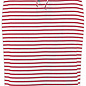 Striped Pencil Skirt - White and Red