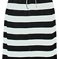 Skirt with Pockets and Black Melange Stripes