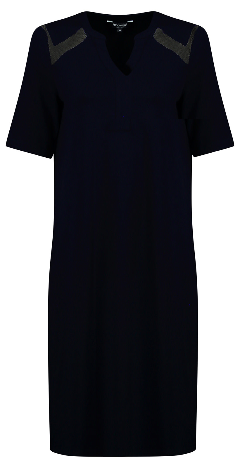 Navy Dress with Mesh Details