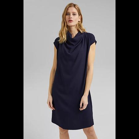 High Neck Dress - Navy