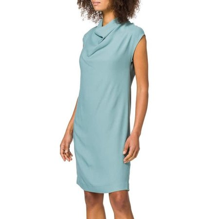 High Neck Dress - Soft Teal