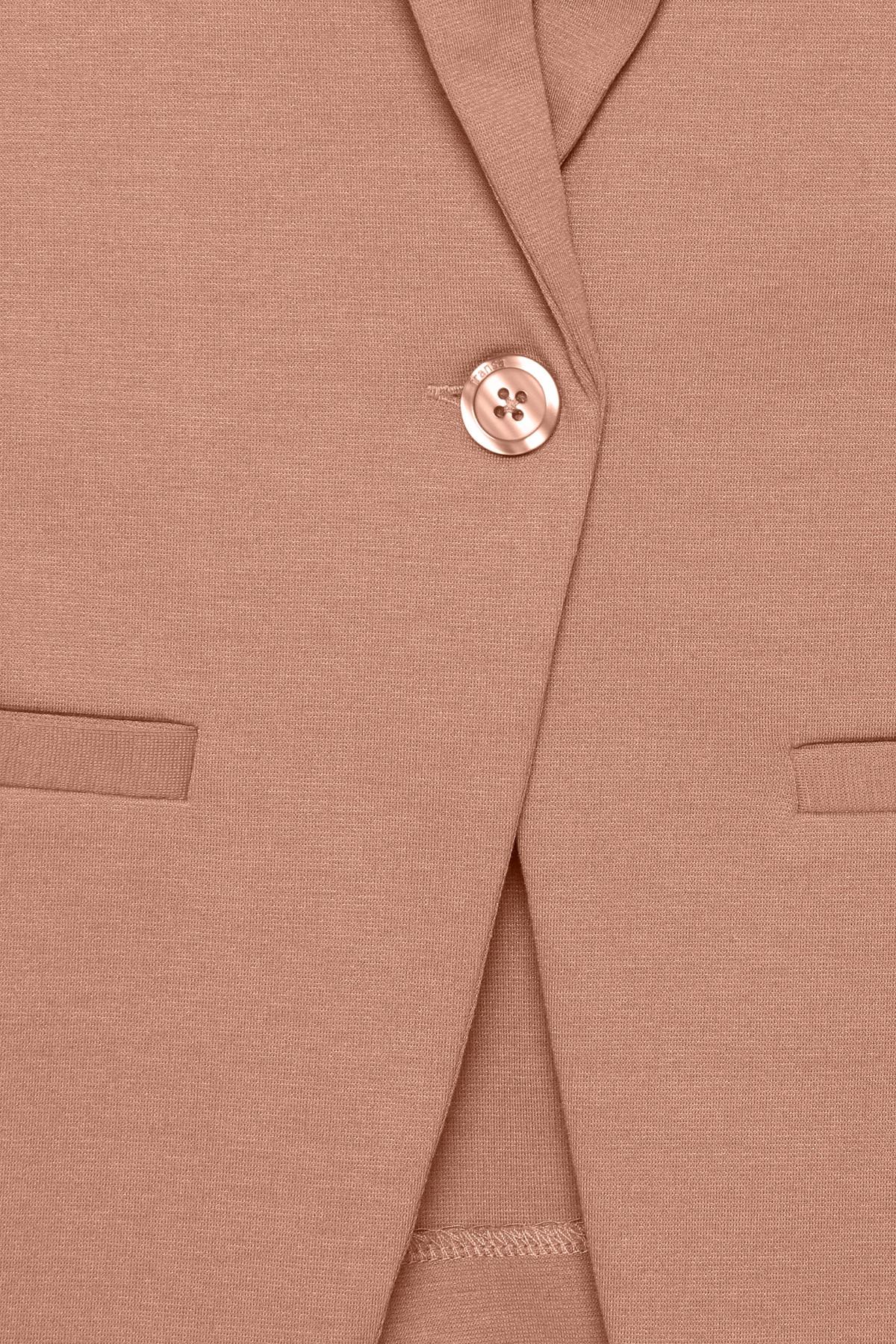Jersey Blazer - Misty Rose