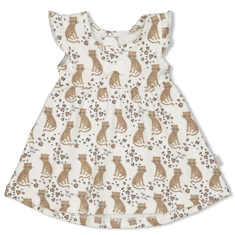Ruffle Sleeve Print Dress - Panther Cutie