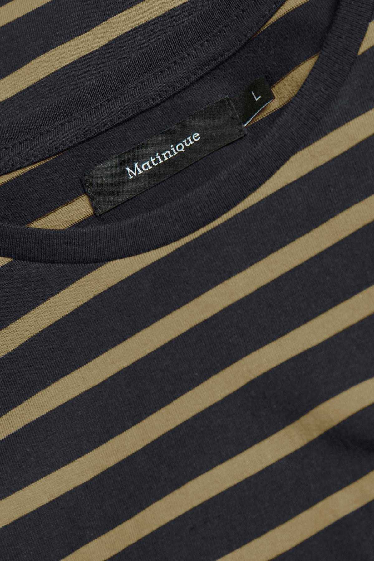 Jermane Solid Stripe Tee - Khaki