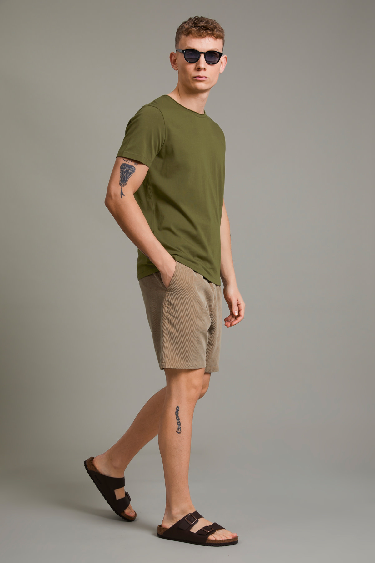 Raw Clean Jersey Tee - Olive Night