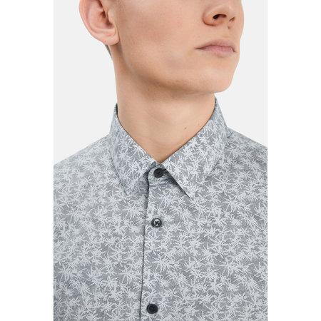 Trostol Short Sleeve Dress Shirt - Navy Dotted Print