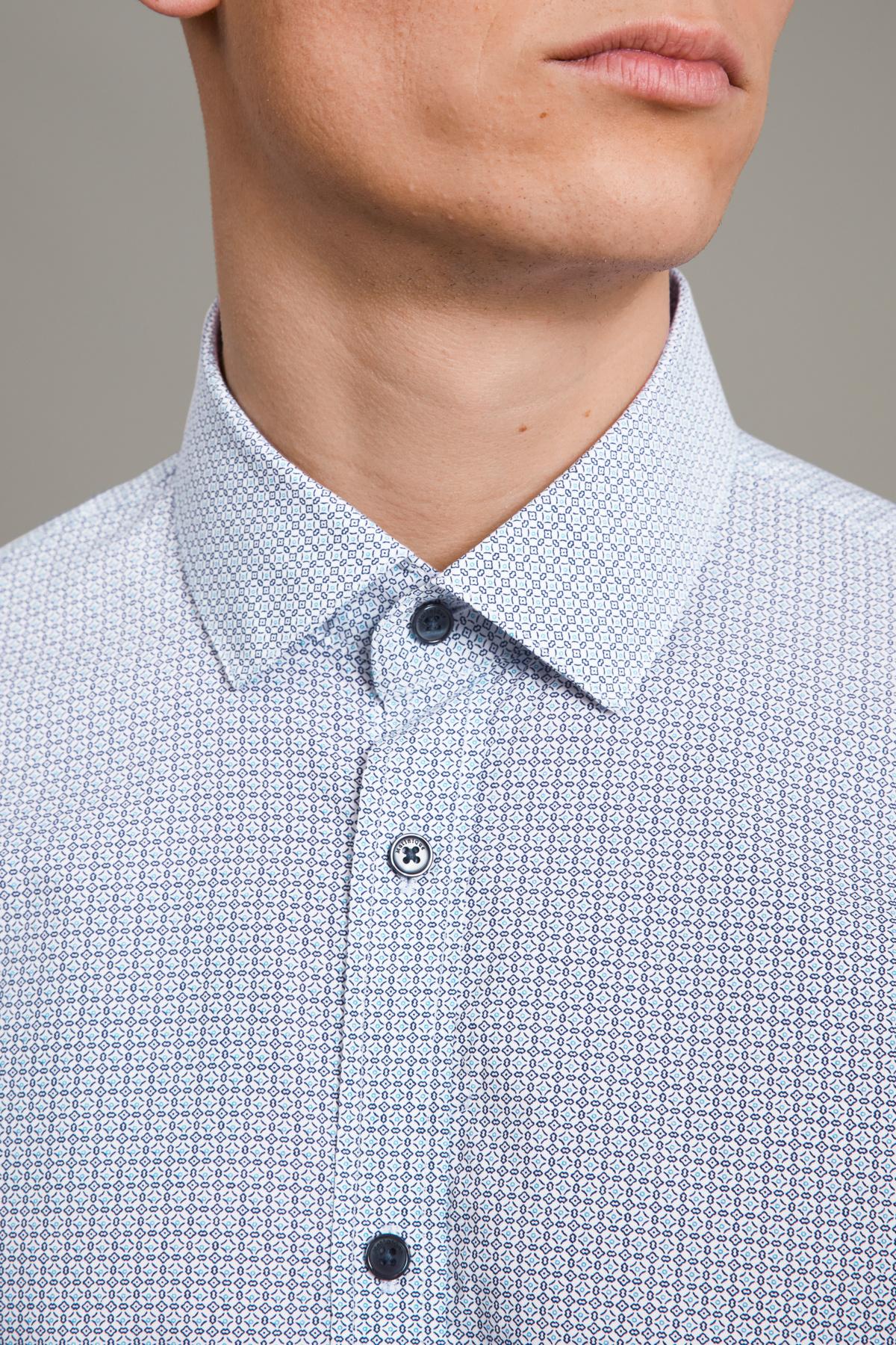 Trostol Short Sleeve Dress Shirt - Chambray Blue