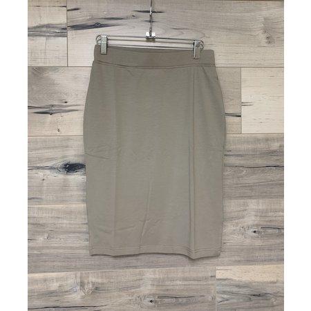 Basic Jersey Skirt - 60cm - Sand