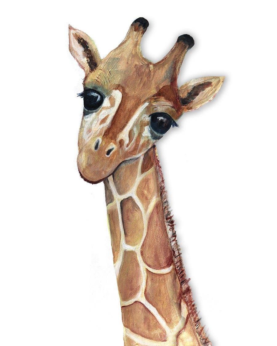 Giraffe Calf Mini Card