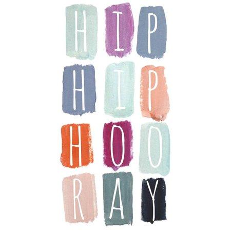 Hip Hip Hooray Mini Card