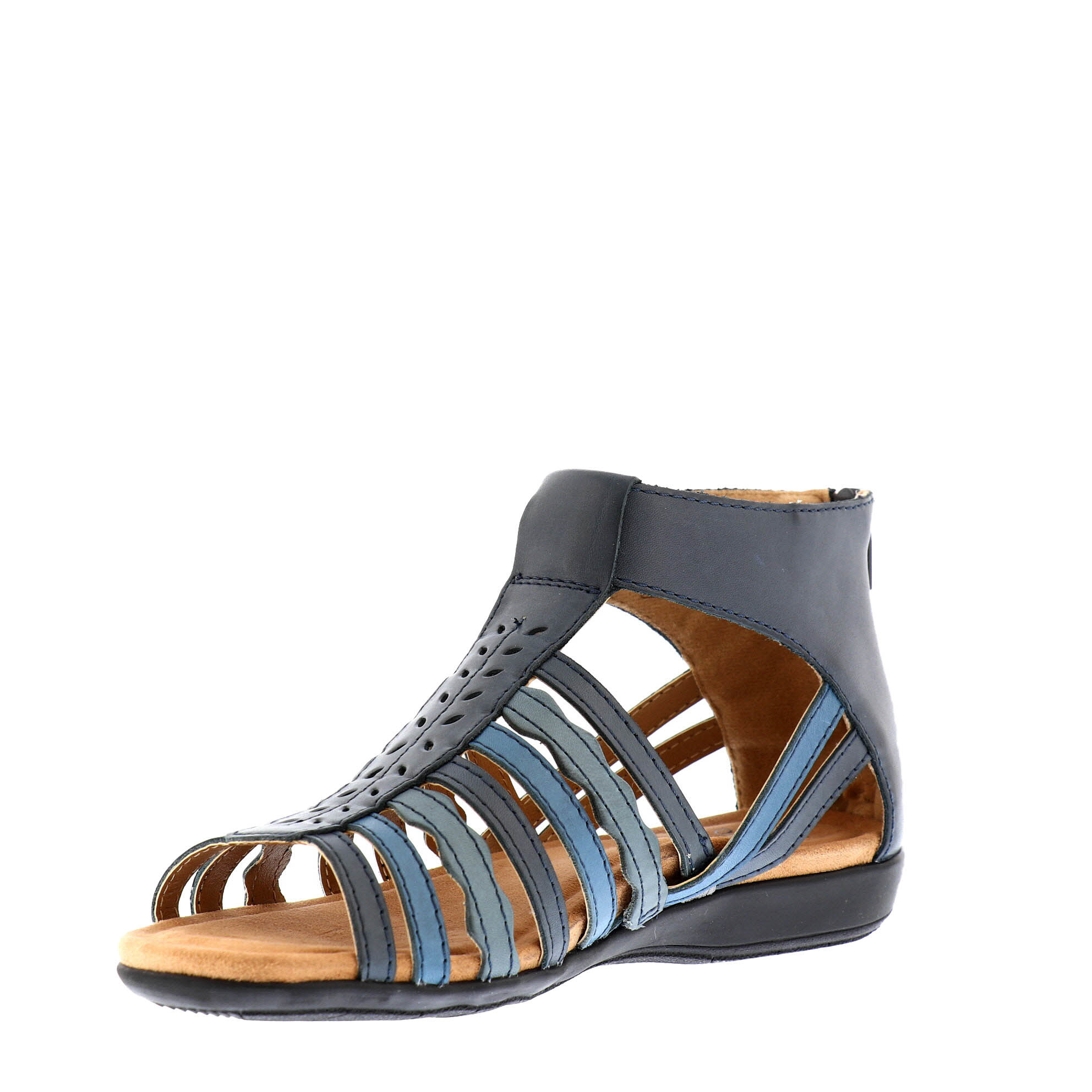Bevvy Navy Walking Sandal