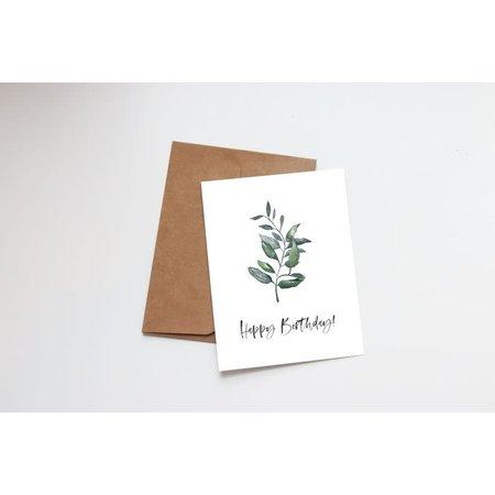 Happy Birthday Succulent Mini Card