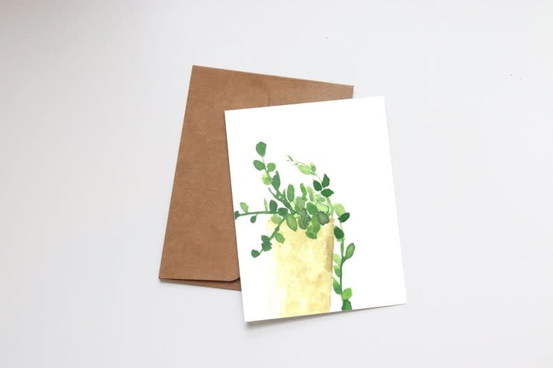 Potted Plant Mini Card