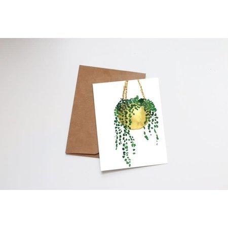 Hanging Plant Mini Card