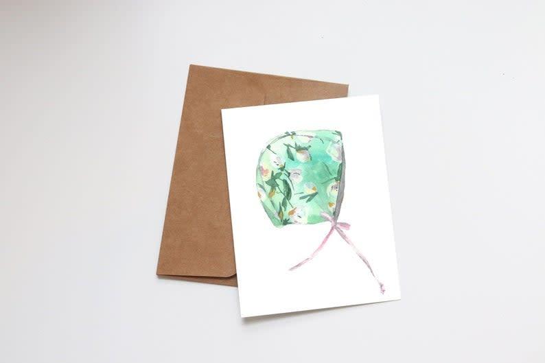 Floral Bonnet Mini Card
