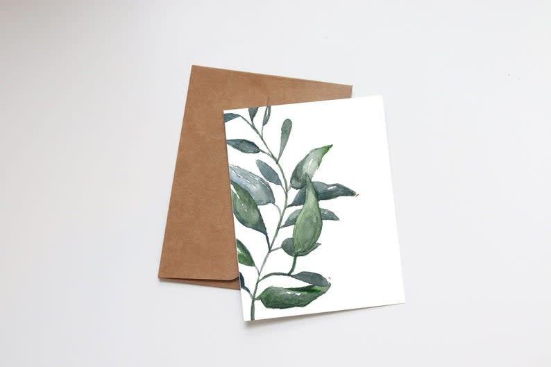 Upright Succulent Mini Card