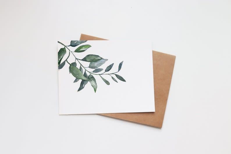 Horizontal Succulent Mini Card