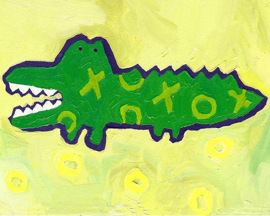 Crocodile Mini Card