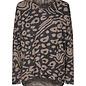 Biara Print Sweater - Camel Melange
