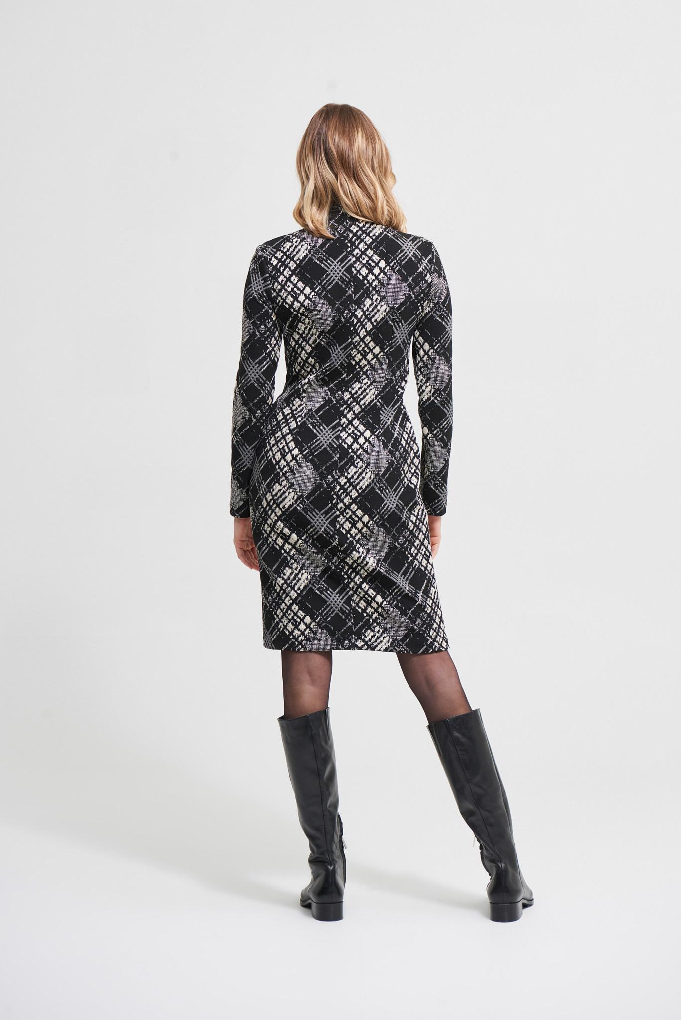 Houndstooth Check Dress