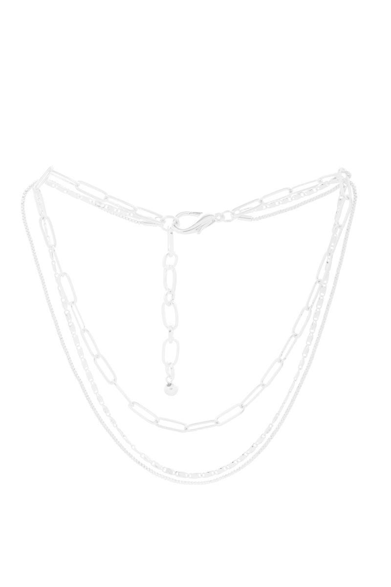 Silver Three-Strand Necklace