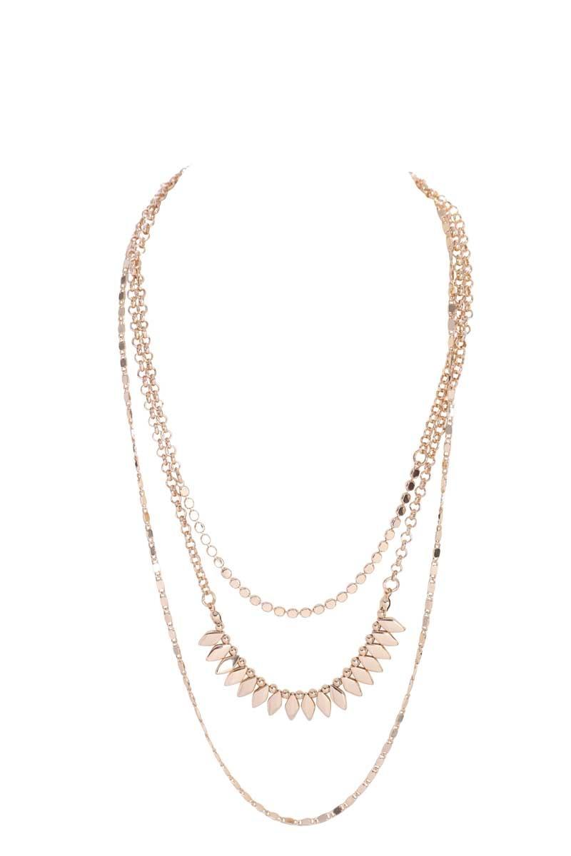 Light Gold Multi-Strand Necklace