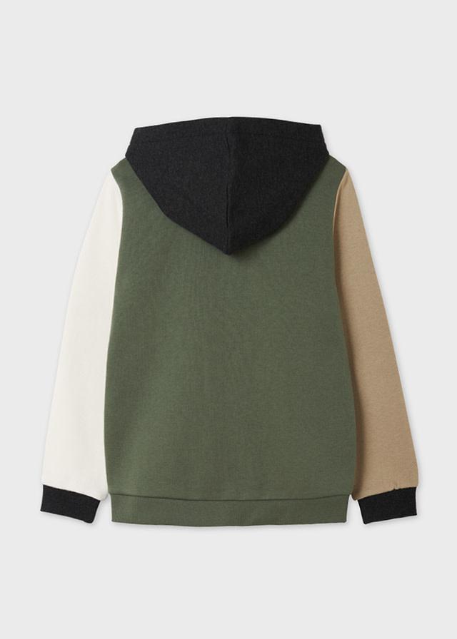 Color Block Zip Hoodie