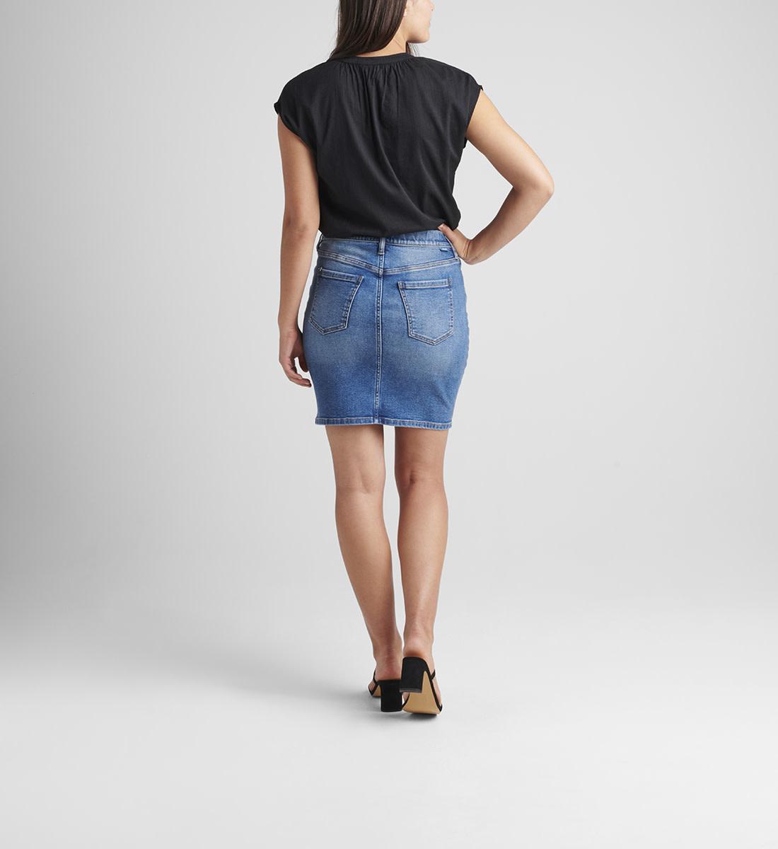Pull-On Stretch Denim Skirt