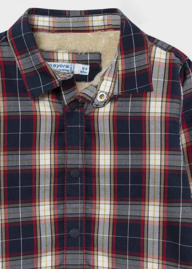 Checkered Shirt with Minky Lining